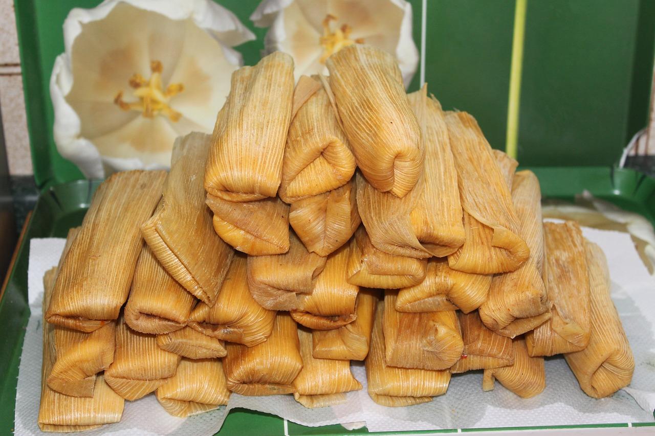 Tamales hechos de harina