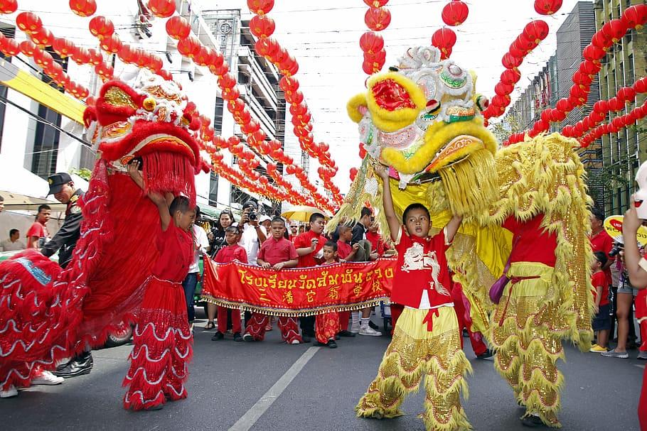 Disfraces de dragones chinos
